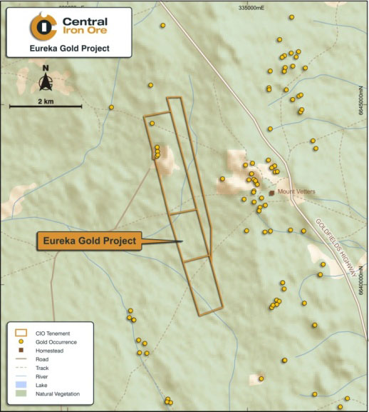 Eureka Gold Project Tenement Location